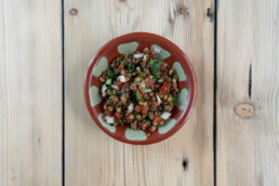 Salade de lentilles traiteur libanais lyon
